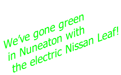 We've gone green  in Nuneaton with  the electric Nissan Leaf!