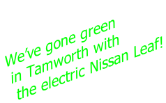 We've gone green  in Tamworth with  the electric Nissan Leaf!